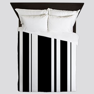 Bold Black Stripe Queen Duvet