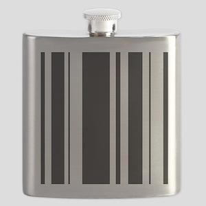 Bold Black Stripe Flask