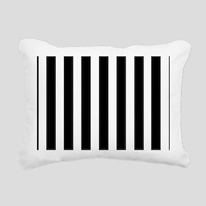 Sleek black and white stripes Rectangular Canvas P