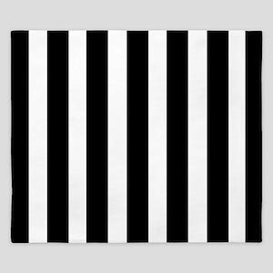 Sleek black and white stripes King Duvet