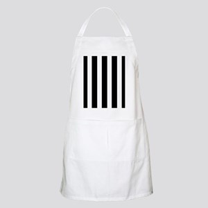 Sleek black and white stripes Apron