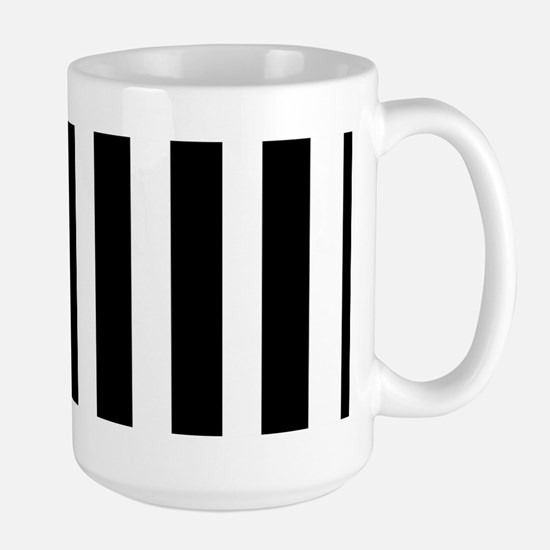 Sleek black and white stripes Mug