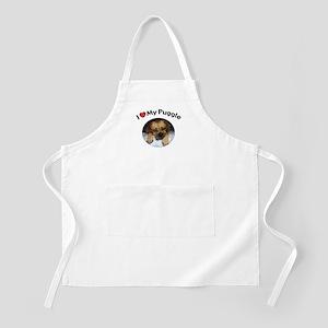 I (Heart) My Puggle BBQ Apron