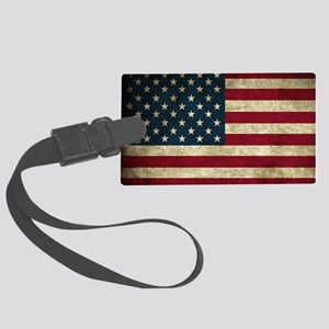 American Flag Large Luggage Tag