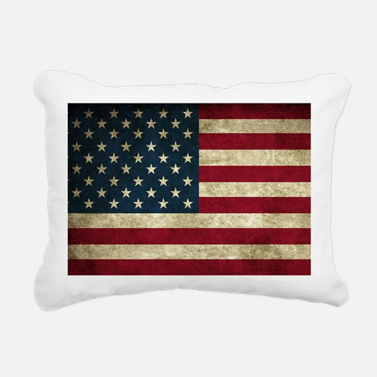 American Flag Rectangular Canvas Pillow