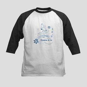 Personalized Ice Skater Kids Baseball Jersey