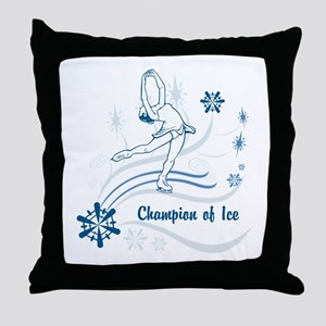 Personalized Ice Skater Throw Pillow
