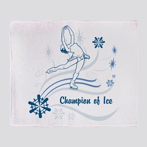 Personalized Ice Skater Throw Blanket
