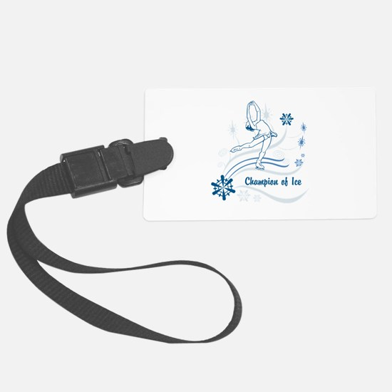 Personalized Ice Skater Luggage Tag