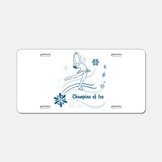 Personalized Ice Skater Aluminum License Plate