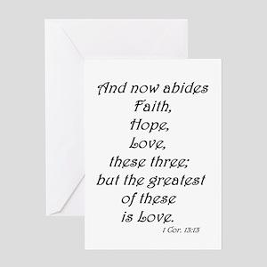 1 Cor. 13:13 #4 Greeting Card