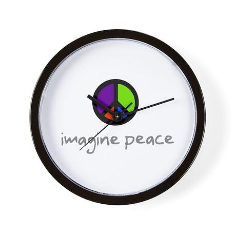 Imagine Peace Blue Glasses Wall Clock
