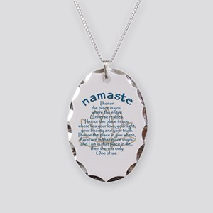 Namaste Necklace Oval Charm