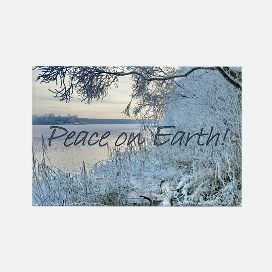 Peace on Earth-Winter Wonderlands Rectangle Magnet