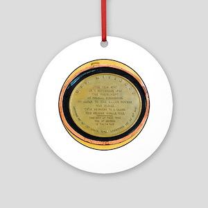 WWII Surrender Marker - USS Missour Round Ornament