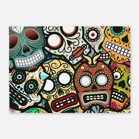 Day of the Dead 5'x7'Area Rug