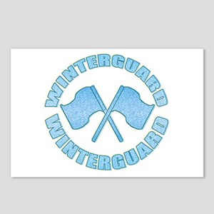 Vintage Winterguard Blue Postcards (Package of 8)