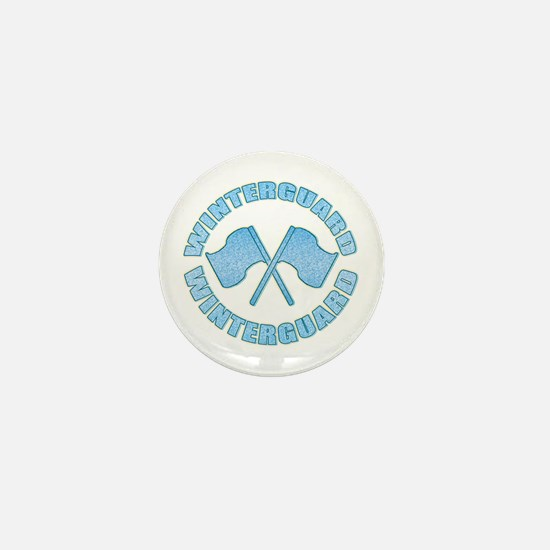 Vintage Winterguard Blue Mini Button