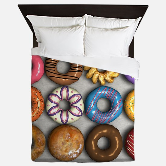 Box of Doughnuts Queen Duvet