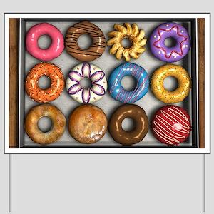 Box of Doughnuts Yard Sign