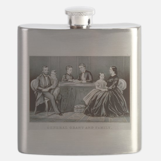General Grant and family - 1867 Flask