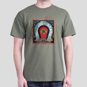 Good Luck Vintage Label Dark T-Shirt