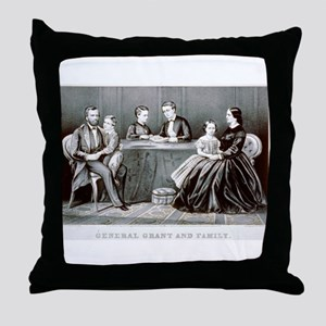General Grant and family - 1867 Throw Pillow