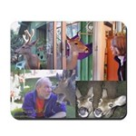 Deer in the Yard Collage Mousepad