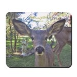Young deer with an Angel Mousepad