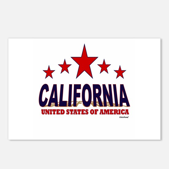 California U.S.A. Postcards (Package of 8)