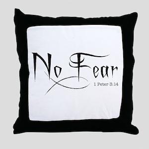 No Fear - Throw Pillow