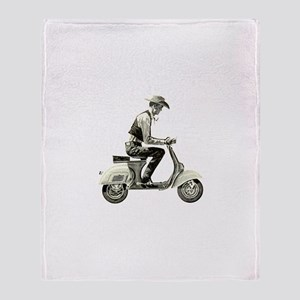 Scooter Cowboy! Throw Blanket
