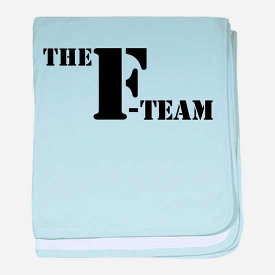 The F Team baby blanket