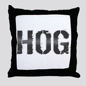 HOG. Throw Pillow