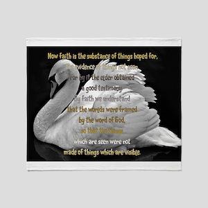 Swan Faith understood Throw Blanket