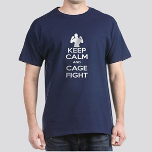 Keep Calm and Cage Fight Dark T-Shirt