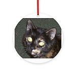 Dark Tortoiseshell Calico Ornament (Round)