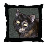 Dark Tortoiseshell Calico Throw Pillow