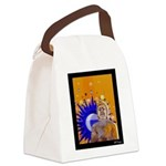 At the Coffee Bar Canvas Lunch Bag