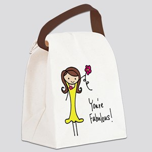Fabulous Flo Canvas Lunch Bag