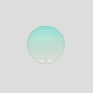 Aqua Ombre Chevron Mini Button