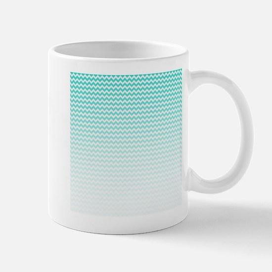 Aqua Ombre Chevron Mug