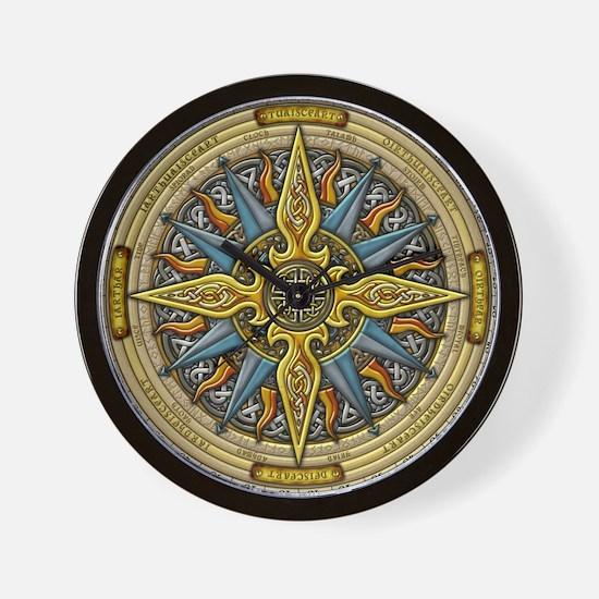 Celtic Compass Wall Clock