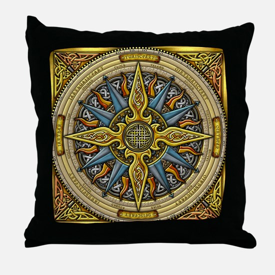 Celtic Compass Throw Pillow