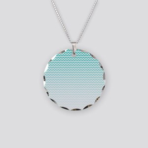 Aqua Ombre Chevron Necklace