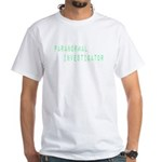 Paranormal Investigator (Label) White T-Shirt