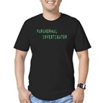 Paranormal Investigator (Label) Men's Fitted T-Shi
