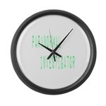 Paranormal Investigator (Label) Large Wall Clock