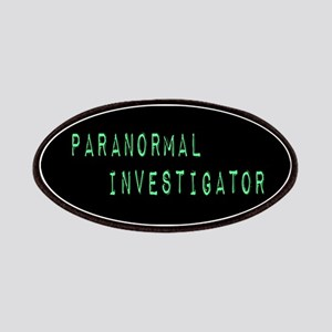 Paranormal Investigator (Label) Patches