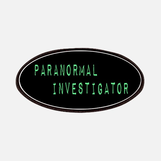 Paranormal Investigator (Label) Patches